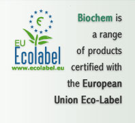 Biochem is a range of products certified with the European Union Eco-Label
